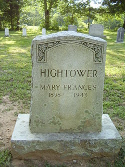 Mary Francis Fannie Hightower