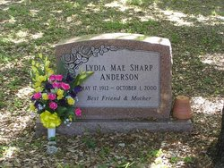 Lydia Mae <i>Sharp</i> Anderson