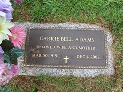 Carrie Belle <i>Buchanan</i> Adams