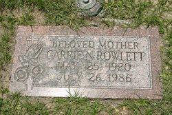 Carrie Nell <i>Savage</i> Rowlett
