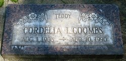 Cordelia J Teddy <i>Stone</i> Coombs