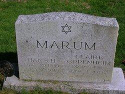Claire <i>Oppenheim</i> Marum