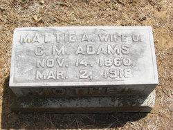 Mattie Amanda <i>Baugh</i> Adams