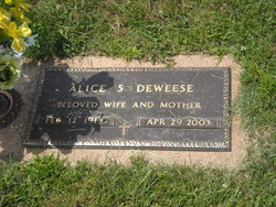 Alice Frances <i>Stevens</i> Deweese