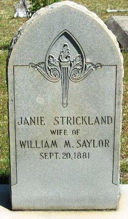 Janie <i>Strickland</i> Saylor