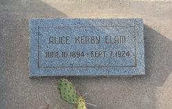 Alice Amelia <i>Kerby</i> Elam