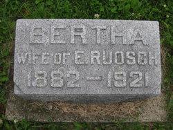 Bertha U <i>Schumacher</i> Ruosch