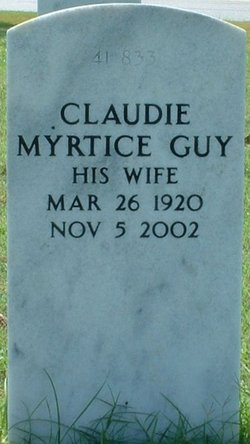 Claudie Myrtice <i>Guy</i> Hutchinson