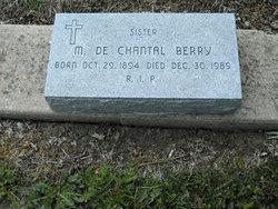 Sr M. de Chantal Berry