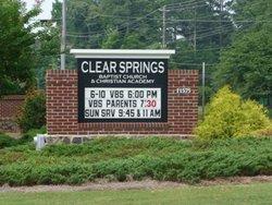 Clear Springs Baptist  Ocee Church Cemetery