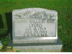 Carrie Wallene <i>Ware</i> Lyons