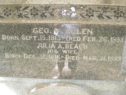 Julia Ann (Julian) <i>Beach</i> Allen
