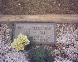 Ruth Leona <i>Chambers</i> Alexander