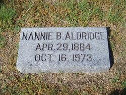 Nannie <i>Bishop</i> Aldridge