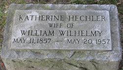 Katherine <i>Hechler</i> Wilhelmy