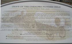 Pioneer Child Burial Site