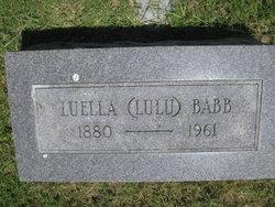 Luella <i>Booton</i> Babb