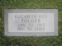 Nell Elizabeth <i>Rice</i> Folger