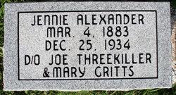 Jennie <i>Threekiller</i> Alexander