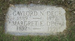 Margaret Elizabeth Deck
