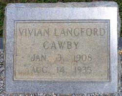 Vivian <i>Langford</i> Cawby