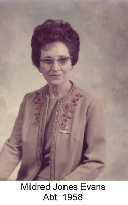 Mildred Mae <i>Jones</i> Evans
