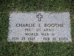 Pfc Charlie L Boothe