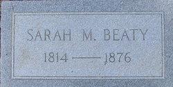 Sarah M Sallie Beaty