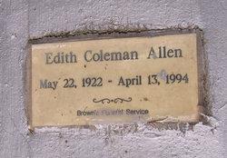 Edith <i>Coleman</i> Allen