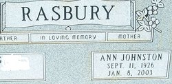Ann Johnston Rasbury