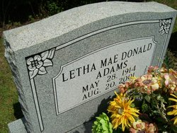 Letha Mae <i>Donald</i> Adams