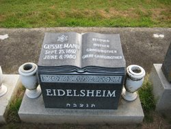 Gussie <i>Mann</i> Eidelsheim