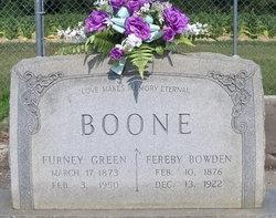 Fereby <i>Bowden</i> Boone