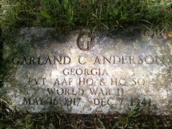 Pvt Garland C Anderson