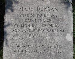 Mary Duncan Butler <i>Duncan</i> Dana