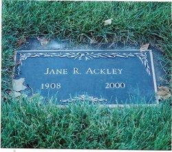 Jane R <i>Reuter</i> Ackley