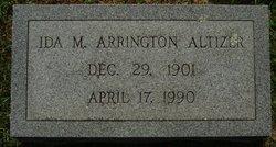 Ida M <i>Arrington</i> Altizer