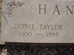 Donie <i>Taylor</i> Hanson