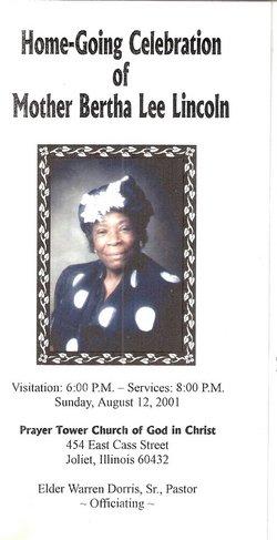 Mrs Bertha Lee <i>Brown</i> Lincoln