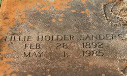 Lillie <i>Holder</i> Sanders