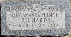 Mary Amanda <i>Pulsipher</i> Richards
