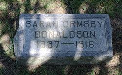 Sarah J <i>Ormsby</i> Donaldson