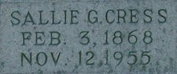 Sarah Frances Sallie <i>Greer</i> Cress