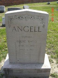Virginia E Birdie <i>Walls</i> Angell