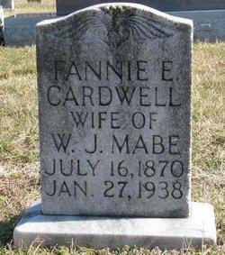 Cora Frances Fannie <i>Cardwell</i> Mabe