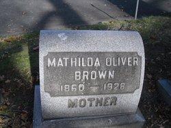 Mathilda <i>Oliver</i> Brown