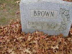 Gertrude <i>McCue</i> Brown