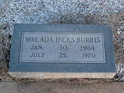Ada <i>Hicks</i> Burris