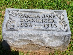 Martha Jane <i>Gordon</i> Boosinger