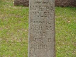 Martha <i>Nolen</i> Alexander